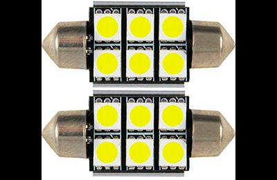 Lámpara LED C5W - C10W de 6 LED