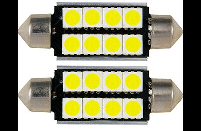 Lámpara LED C5W - C10W de 8 LED