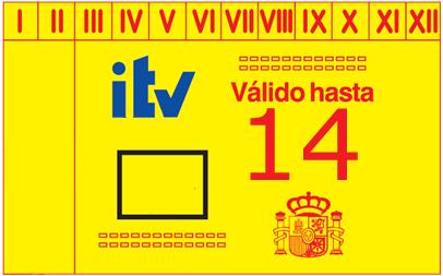 ¿Es obligatorio poner la pegatina de la ITV?