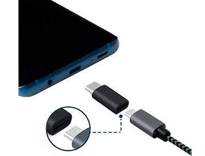 Adaptador de telefonía Micros USB a USB tipo C